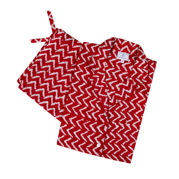 Red Zig Zag Pajamas SIZE SMALL ONLY ONE AVAILABLE