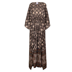Rombo One of Kind Natural Dyed Maxi Kaftan Dress