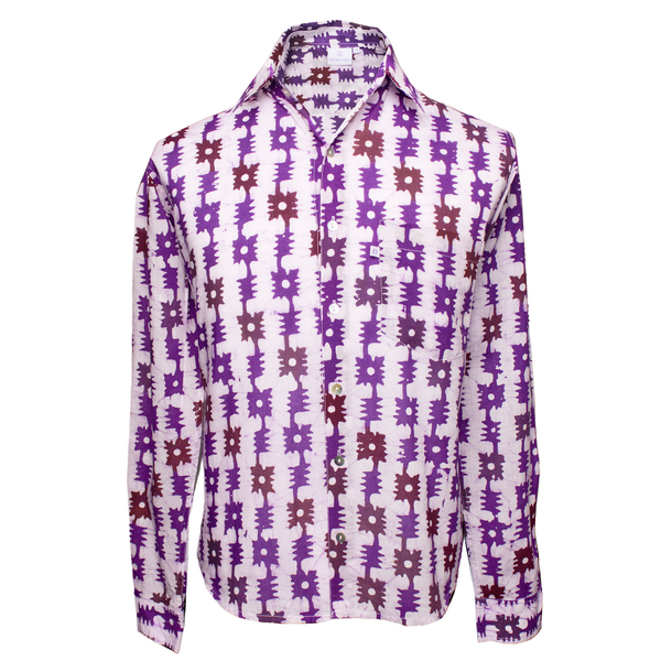 Serendipity Long Sleeve Men's Button Up Shirt