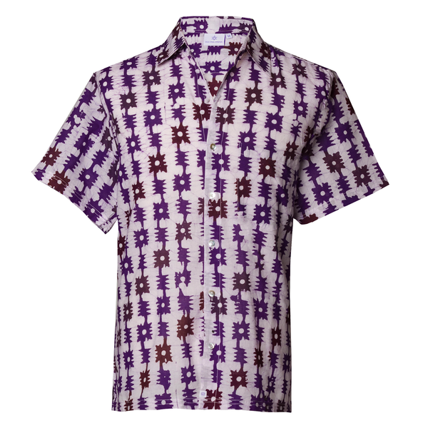 Serendipity Short Sleeve Men's Button Up Shirt