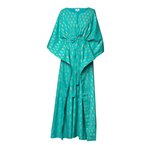 Sheba Turquoise Maxi Kaftan Dress
