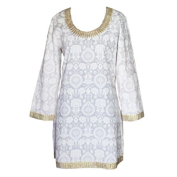 Snow White Metallic Tunic