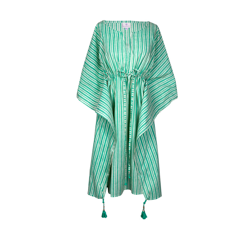 Stromboli Stripe Midi Kaftan Dress ONLY TWO LEFT