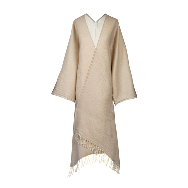 Oatmeal Kimono Coat Super Soft Boiled Wool