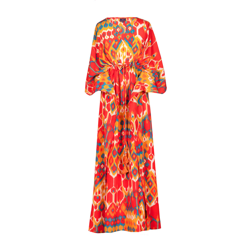 Viva La Vita italian Silk Maxi Kaftan Dress