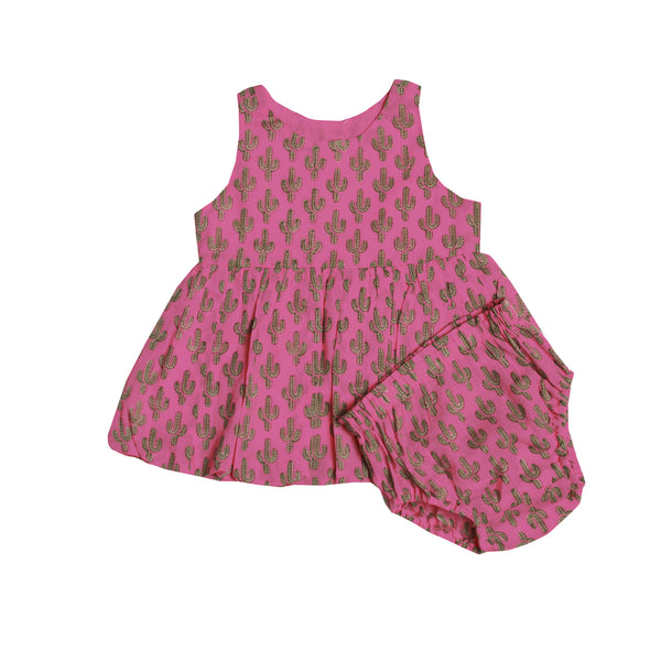 Prickly Pax Cactus Pink Bubble Dress-PRE-ORDER for arrival before Christmas