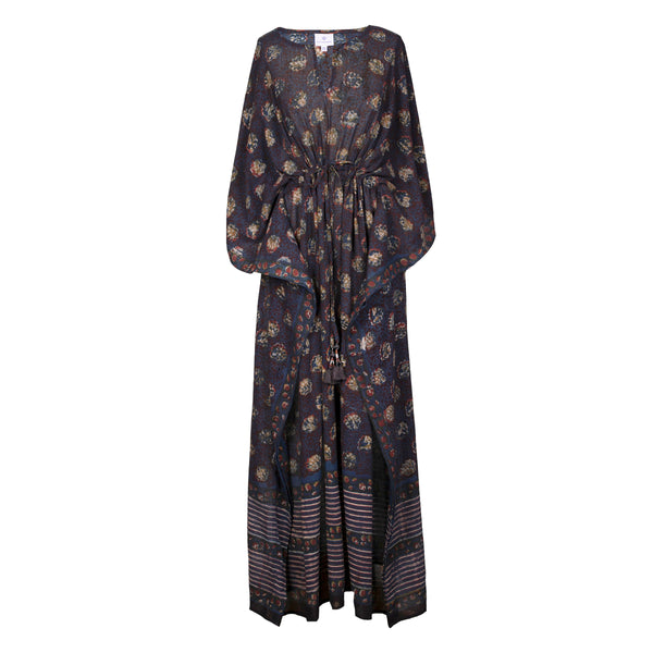 Fiorellino Limited Edition Natural Dyed Maxi Kaftan Dress