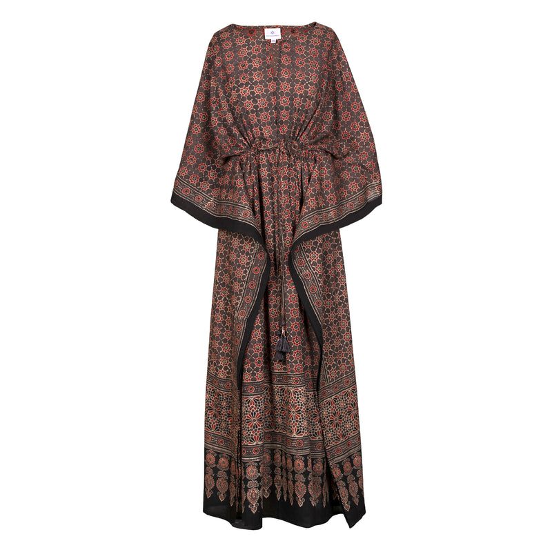 Rosa One of Kind Natural Dyed Maxi Kaftan Dress