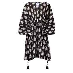 Luisa Obsidian Short Kaftan Dress