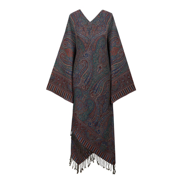 Petrolio Paisley Reversible Kimono Coat ONE OF A KIND Super Soft