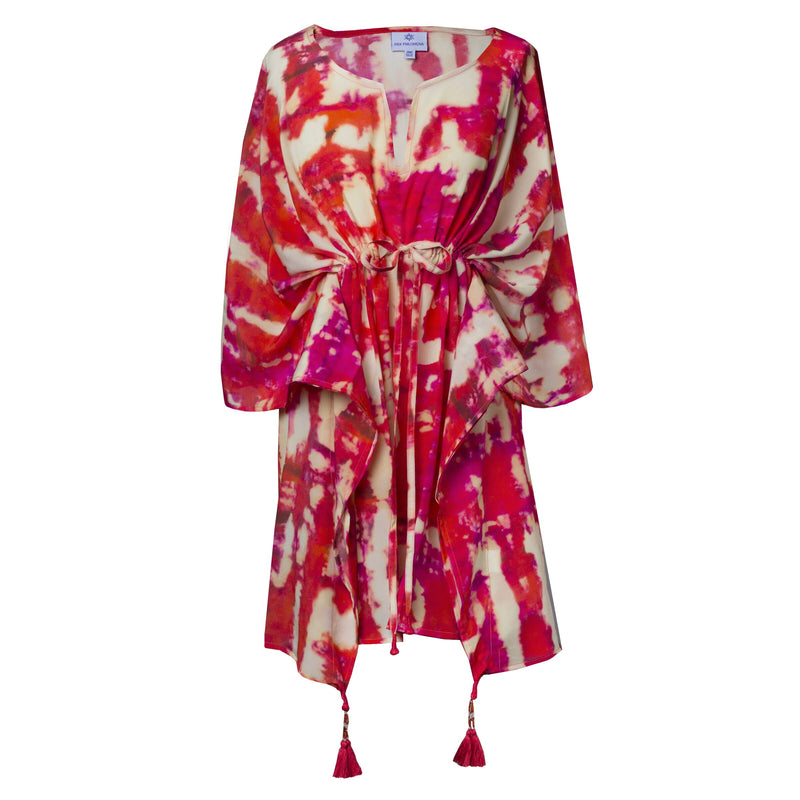 Amalfi Italian Silk Short Kaftan Dress