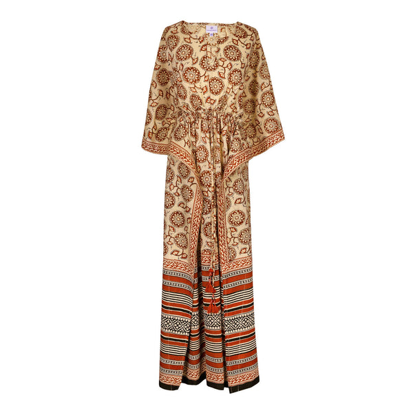 Florentina Maxi Kaftan Dress Natural Dyes LIMITED EDITION ONLY ONE LEFT
