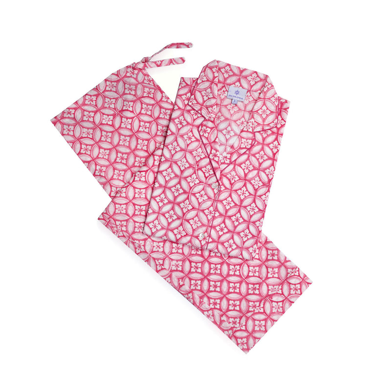 Nina Pink Long Sleeve Pajamas