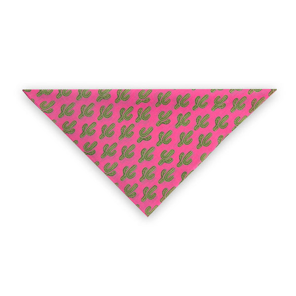 Prickly Pax Pink Cactus Bandana As Seen On the ZOE REPORT