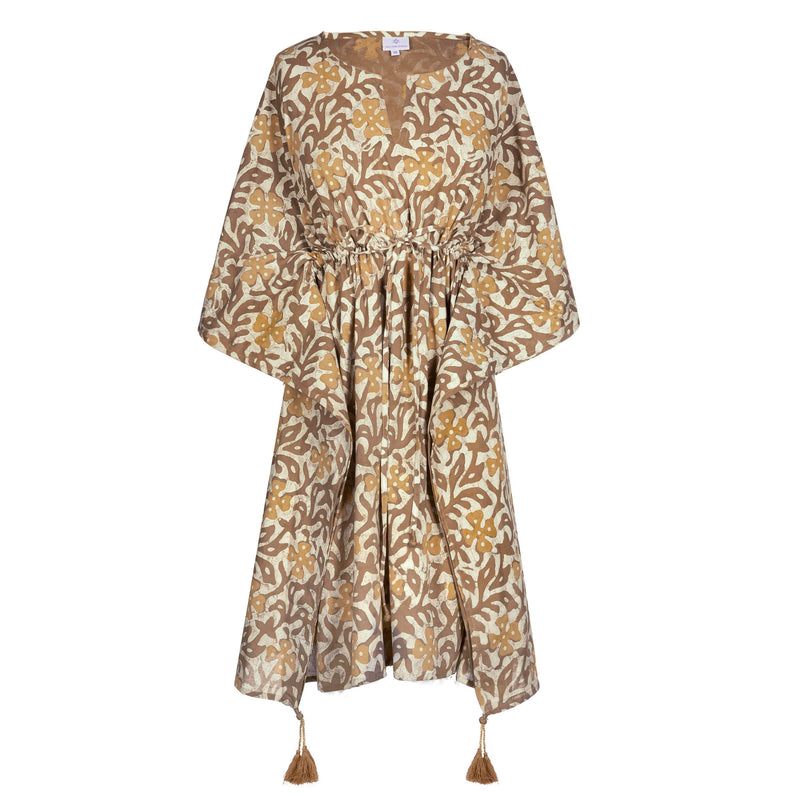 Isadora Oro Midi Kaftan Dress