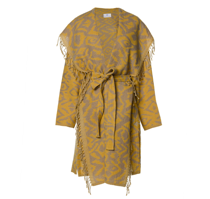 Cheryl Turmeric Boiled Wool Coat
