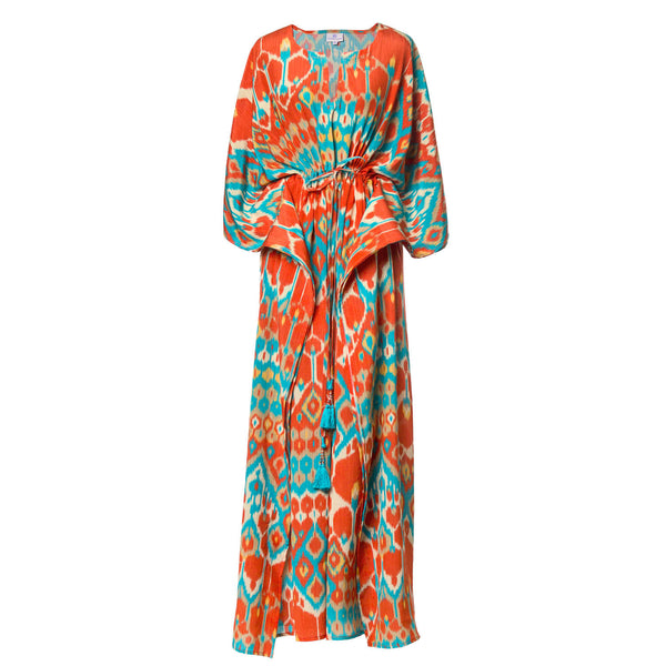 Bella Vita Italian Silk Maxi Kaftan Dress
