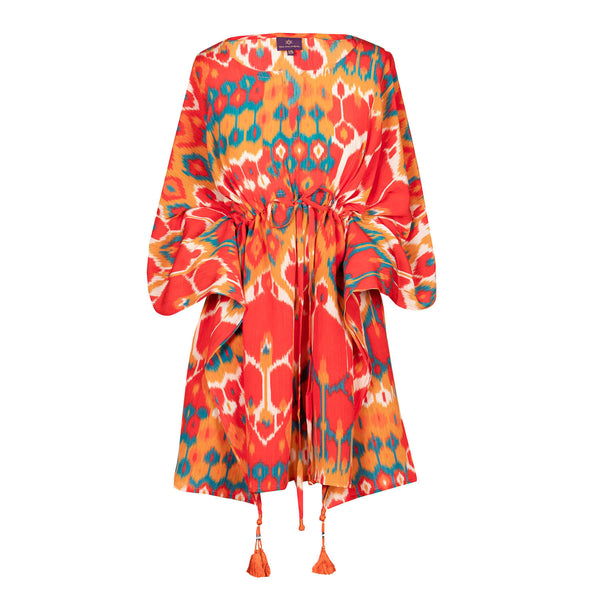 Viva La Vita Italian silk Short Kaftan Dress