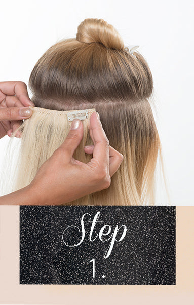 how to add clip-in hair extensions