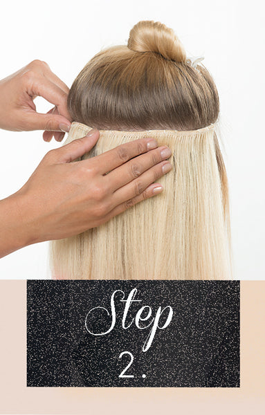 how to add clip-in hair extensions step by step