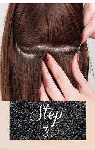 How to apply Flat Weft Hair Extensions step by step