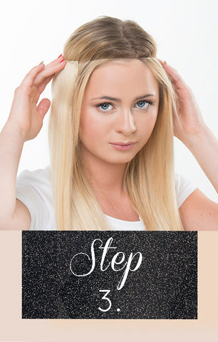 Step 3 for one piece hair extensions