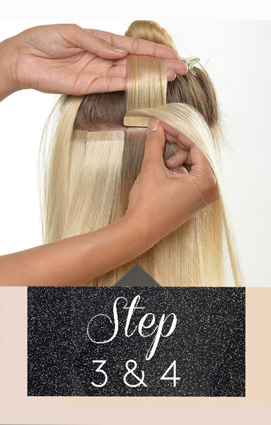 Anwendung Tape-In Extensions Hair - Step 3 & 4