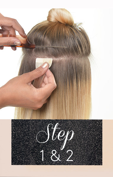 Anwendung Tape-In Extensions Hair - Step 1 & 2