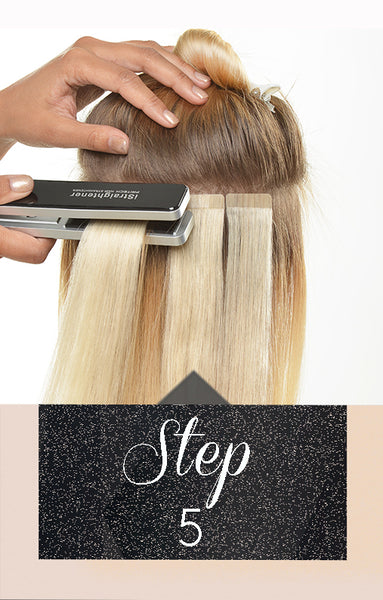 Anwendung Tape-In Extensions Hair - Step 5