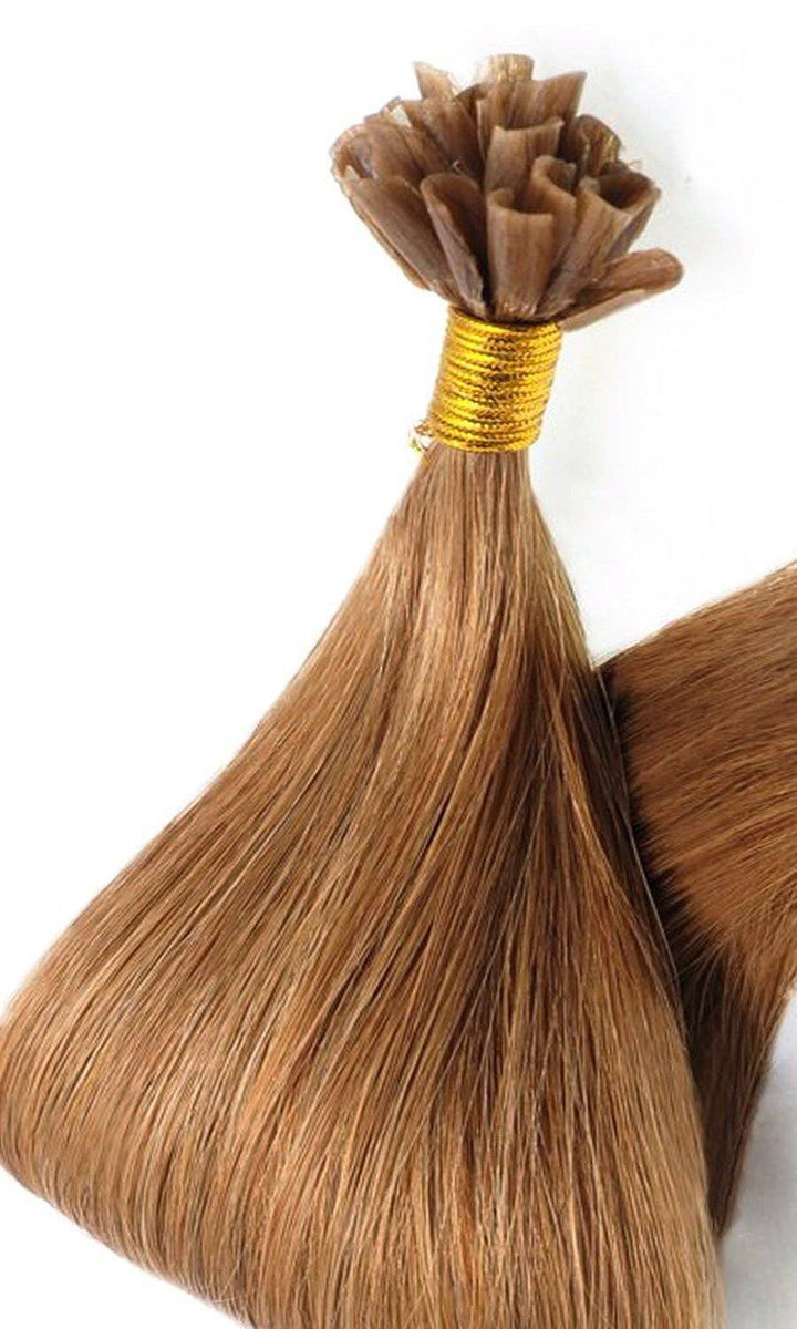 Hellbraun Karamell Keratin Bonding Hair Extensions