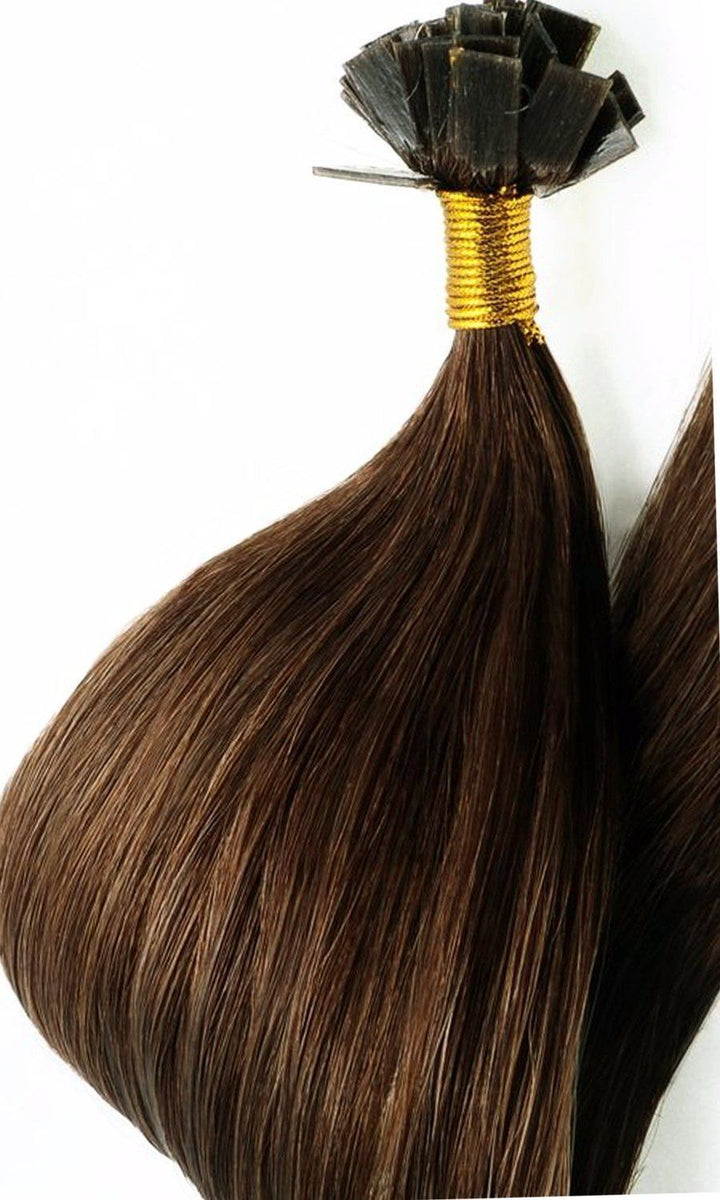 Keratin bonding natur-goldbraun hair extensions