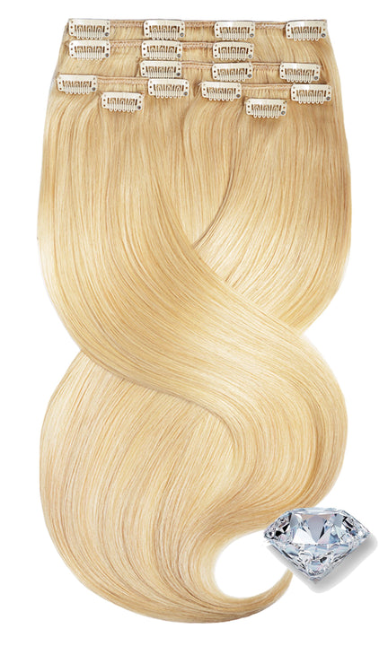 Pure Diamonds Honigblond Clip-in Echthaar Extensions