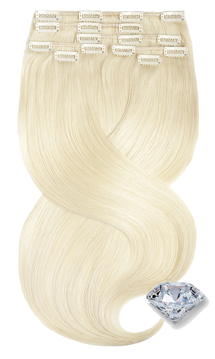 Pure Diamonds Goldblond Clip-in Echthaar Extensions