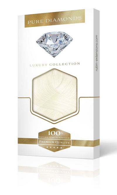 Pure Diamonds Platinblond One Piece Haarverlängerungen