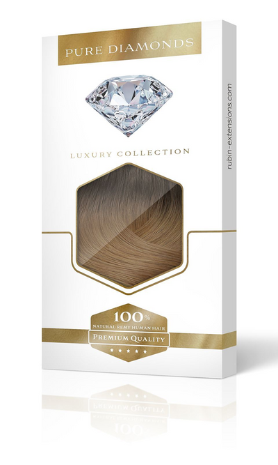 Pure Diamonds Ombre Rich Chocolate Clip-in Haarverlängerungen