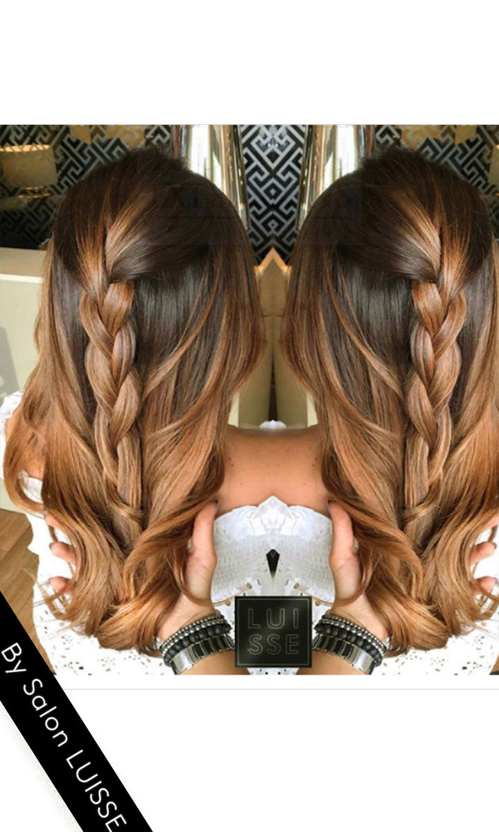 Ombré Clip-in Extensions Diamond Line Rubin Extensions
