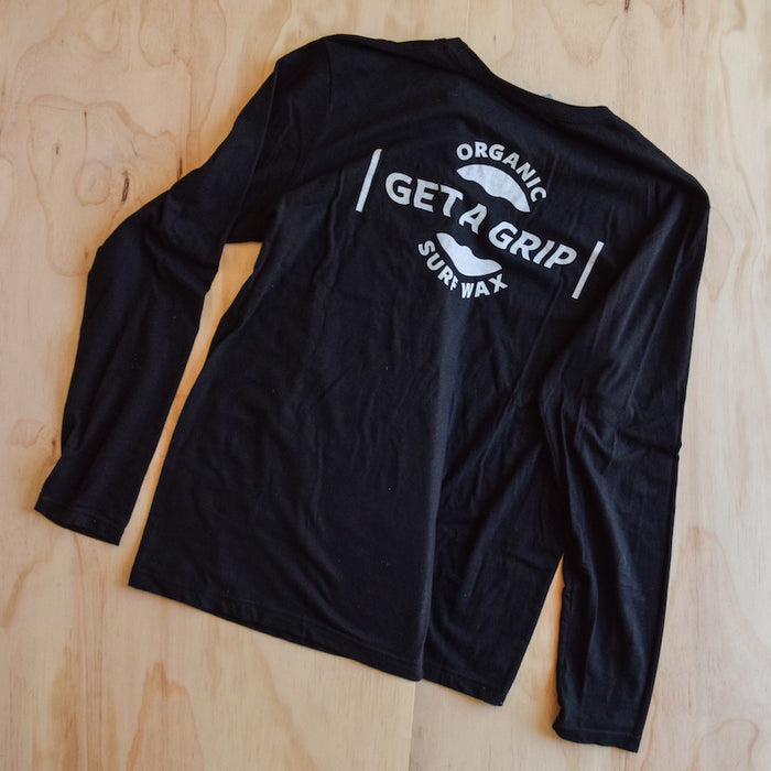 Get A Grip - Black Long Sleeve Tee