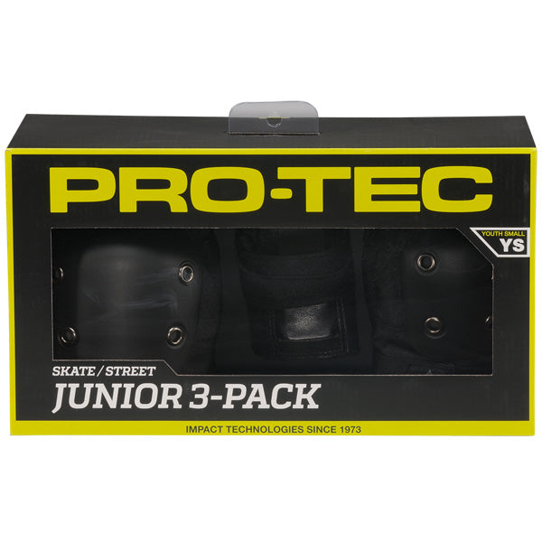 Protec Junior Protective Pack - Black, Accessories, rollerskate, impala