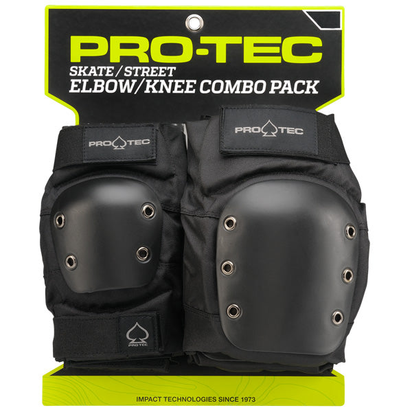 Protec Knee & Elbow Pad Pack - Black - Impala Rollerskates