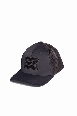 EA Logo 404M Flex Fit Hat: Black Out