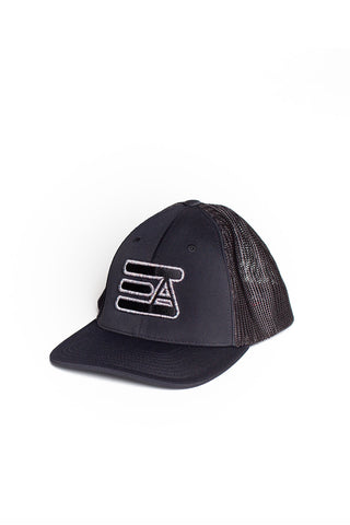 EA Logo 404M Flex Fit Hat: Black & Astro