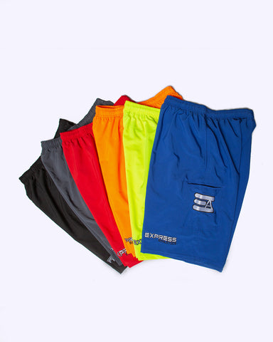 Express Athletics 4 Pocket Microfiber Shorts: 4 Way Stretch