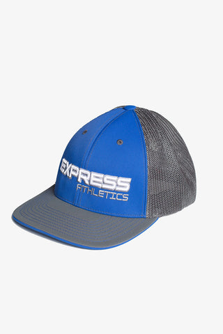 Express Logo 404M Flex Fit Hat: Royal & Graphite