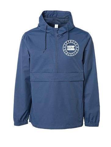 Express Athletics 1/4 zip Jacket: Blue Edition