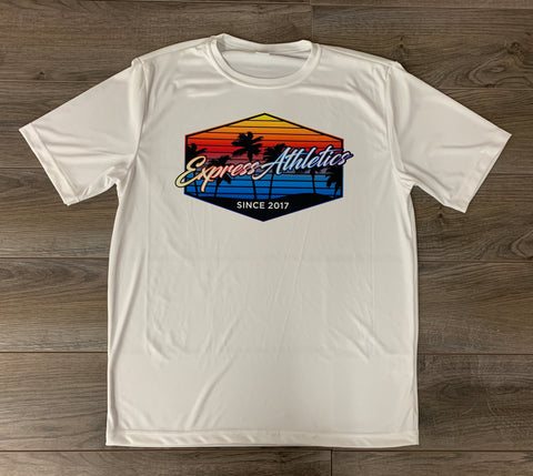 Dri Fit Poly Tee: Sunset