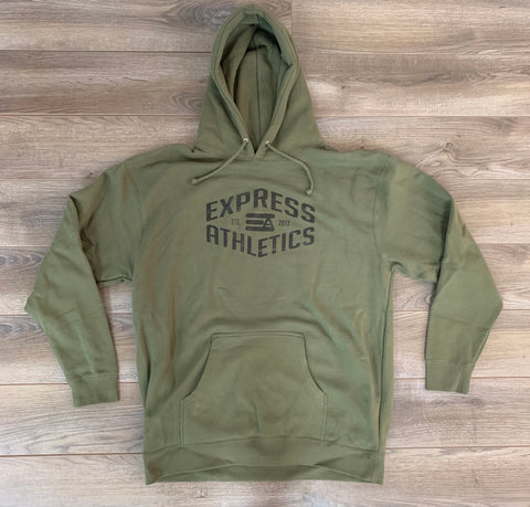 Army Green Casual Hoodie