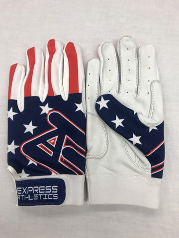 Express Athletics Batting Gloves: Flag Series