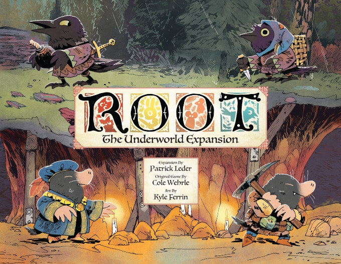 Root: A Game of Woodland Might and Right plus Riverfolk  & Underworld Expansions