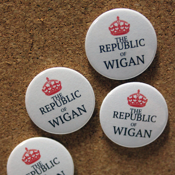 Republic Of Wigan Badge