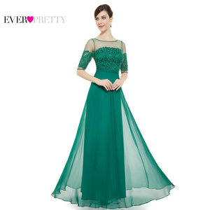 [Clearance Sale] Ever Pretty Women Elegant Long Evening Dresses Chiffon Lace A line Backless Formal Party Evening Dress